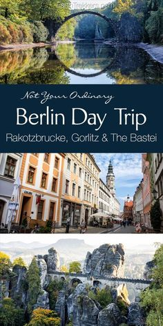Berlin Day Trip to Rakotzbrucke, Gorlitz, Zgorzelec, and the Bastei (Bastion Bridge). Road trip in Germany with tips for driving the autobahn. #berlin #germany #bastei #roadtrip