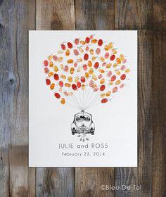 Lassen Sie einen Eindruck von einem unvergesslichen Tag, mit einer einzigartigen und persönlichen, Weise, Ihre Gäste aufnehmen! Interaktiv, kreativ und ein schönes Andenken für Jahre schätzen zu kommen! Anders als ein langweilig Gästebuch, der sitzt auf einem Tisch, verstaubt, ist dieses Gästebuch-Alternative ein kleines Kunstwerk an Ihre Wand hängen und täglich zu schätzen.  Dieses ursprüngliche Design ist jede Menge Spaß! Diesen besonderen Tag unvergesslich zu machen. Jeder Ihrer Gäste…