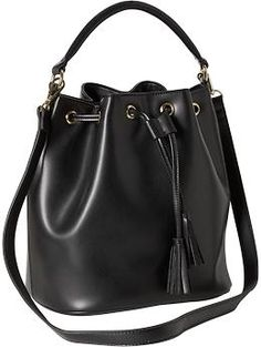 Women's Faux-Leather Bucket Bag | Old Navy