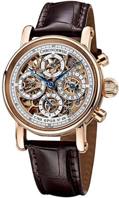 CHRONOSWISS Chronograph Skeleton Mens Wristwatch Model CH7541SR | Gemnation #Watch