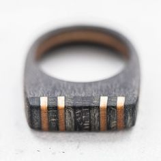 Handmade wooden ring made from broken skateboards with wooden box included. Like every skateboard, it contains 7 colorful layers of canadian maple - really hard wood. One layer - one color is ca. 1,4mm. Our rings are impregnated with the special waterproof cover which is neutral for skin.