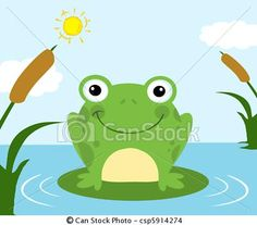 Vector - Frog Cartoon Character - stock illustration, royalty free illustrations, stock clip art icon, stock clipart icons, logo, line art, EPS picture, pictures, graphic, graphics, drawing, drawings, vector image, artwork, EPS vector art