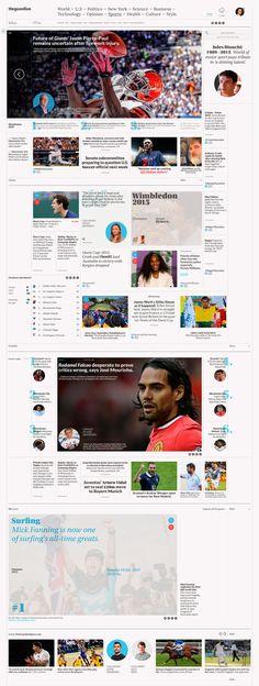 theguardian –– Digital Newspaper.Redesign concept