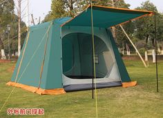 118.38$  Buy here - http://alij9z.worldwells.pw/go.php?t=32693439758 - Camel 4-6 persons high quality waterproof sunscreen double layer camping tent with large space include one set front structs 118.38$