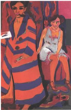 Ernst Ludwig Kirchner- Self-Portrait with a Model, 1910, 149.9x100.3cm