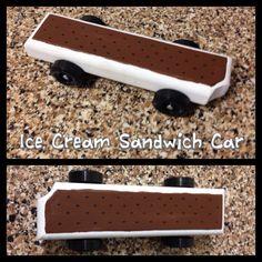 Awana Grand Prix car Pinewood Derby car Ice Cream Sandwich car