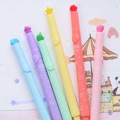 2 Pçs/lote 6 Cores U Escolha! coreia do estilo Colorido caneta Selo moda Marcadores aquarela marcador caneta caneta bonito dos artigos de papelaria em Canetas Marca-Texto de Office & School Suprimentos no AliExpress.com | Alibaba Group
