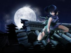 Download wallpaper Stars,  moon,  ninja,  feet free desktop wallpaper in the resolution 1600x1200 — picture №33103