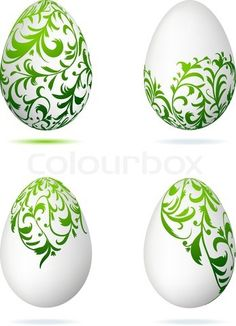 "Buy the royalty-free Stock vector ""Easter eggs white with floral ornament for your design"" online ✓ All rights included ✓ High resolution vector file fo. Egg Crafts, Easter Crafts, Diy And Crafts, Egg Shell Art, Carved Eggs, Easter Egg Designs, Ukrainian Easter Eggs, Diy Ostern, Easter Projects"