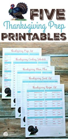 Thanksgiving Prep Printables   Get organized for your holiday dinner with these 5 free printables. Thanksgiving Cooking Schedule, Thanksgiving Menu Plan, Thanksgiving Guest List, Thanksgiving Recipe List. Get your free printables on TodaysCreativeLife.com