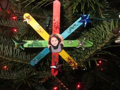 Craft stick star ornament