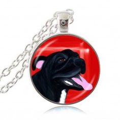 Pit Bull Dog Necklace American Pit-bull Terrier Pet Puppy Rescue Pendant Bulldog Jewelry for Animal Lover Pitbull Terrier Puppies, Bull Terrier Dog, Bull Dog, Dog Necklace, Pendant Necklace, Glass Necklace, American Pitbull, Pet Paws, Pet Puppy