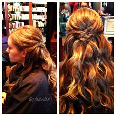 This partial updo by Lysee is perfect for any occasion!