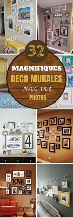 Chaque maison a un mur qui serait parfait pour exposer une galerie de photos. À vous de trouver le vôtre ! Pour vous aider à créer de vrai chef-d'œuvre dans votre maison, nous vous avons déniché 32 idées de déco pour accrocher vos photos au mur.