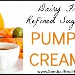 Dairy free and refined sugar free pumpkin creamer