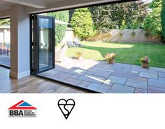 Bifold Doors, Folding and Sliding Doors in Exeter and Plymouth Bifold Doors Onto Patio, Patio Doors, House Extension Design, Extension Ideas, Rear Extension, Sunroom Kitchen, Kitchen Dining, Backyard Makeover, Garden Makeover