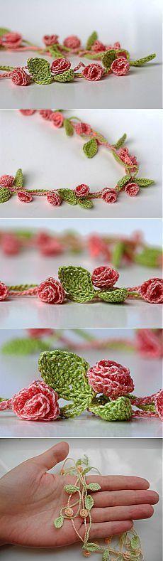 Crochet Sakura Belt Tutorial |