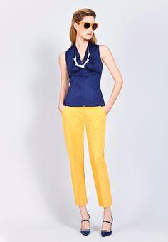Maya Negri Roman yellow pants - love the colour!