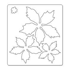 poinsettia petals template - Google Search
