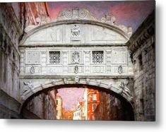 Bridge of Sighs Venice Italy Painterly #Venice #Venezia #BridgeofSighs #Famousbridges #Italy #Italia #Italian #travel #Veneto #homedecor #canvasprints #wallart