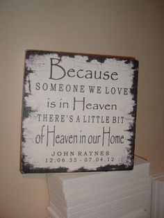 Distressed shabby chic sentiment plaque sign because by debbri, £18.44