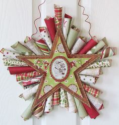 DIY Paper Cone Star Wreath Tutorial
