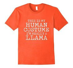 LLAMA Halloween Costume shirt Easy for Men- Women