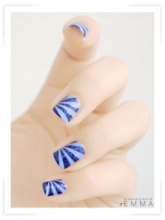 Stripe Bursts | via Le blog de Mademoiselle Emma #NOTD