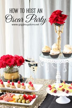How to Host an Oscar Party with Giggles Galore www.gigglesgalore.net