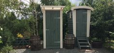 composting toilet and shower cubicle