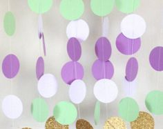 Lilac Mint and White Party Garland
