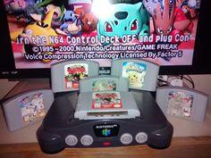 NINTENDO 64 CONSOLE + 6 GAMES * POKEMON STADIUM / SNAP / PIKACHU * #Nintendo