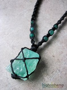 Enchanting Green Calcite Hemp Necklace - https://www.etsy.com/ca/listing/203899924/enchanting-green-calcite-hemp-necklace … #hemp #necklace