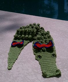 Ravelry: Crocheted Alligator Scarf free pattern by Kathy S.