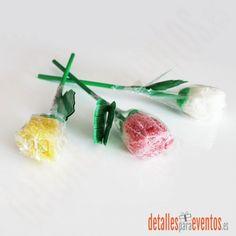 Rosas de gominola, detalles bodas, regalos bautizo, detalle comunión, regalo empresas cliente