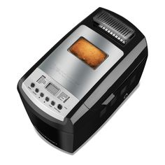 Make professional style bread, right at home! Baking is easy with 13 customizable baking functions, an automatic fruit and nut dispenser, and 3-crust shade options. This breadmaker has a 2.5 lb., 2 lb., or 1.5 lb. loaf capacity, and can make two 1 lb. loaves at once with the included pans!
