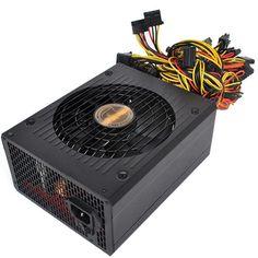 UK 2000W ATX Gold Mining Power Supply SATA IDE 8 GPU for ETH BTC Ethereum