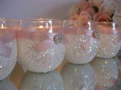Weddings, Wedding Candles, Candle Holder, Votives, Votive Holder, White, SET OF 6, Tea Light Holder, Wedding Decoration, Ceremony Candles