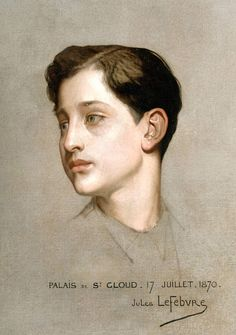 Jules Lefebvre - Portrait du Prince Impérial exécuté à 1870