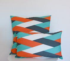 Siesta Studio  http://www.siesta-studio.com/ Cushion Model 03 / orange green braid pattern
