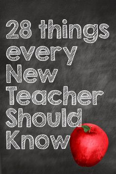 28 Things Every New Teacher Should Know