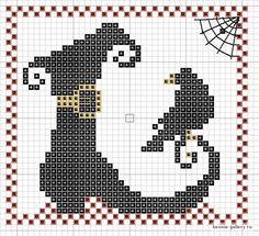 Points de croix *<3* Cross stitch  Halloween