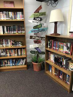 Pick places of my favorite literature modern classroom Reading Corner Classroom, Ela Classroom, Middle School Classroom, Classroom Design, Classroom Themes, Modern Classroom, Library Corner, Middle School Libraries, Classroom Board