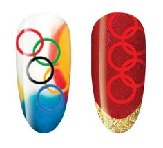 CND SHELLAC How-to: Olympic nail art — BEAUTY EDITOR
