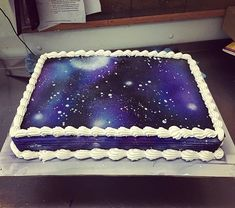 Made a galaxy cake today. It was fun :)