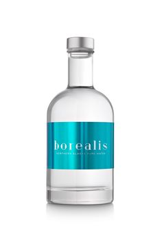 Borealis (concept) - premium packaging for water from northern Alaska springs, inspired by the northern hemisphere  by Paga Disseny, Barcelona, Spain.