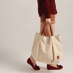 『素色简约手拎帆布包』森林系日系森女通勤基本款