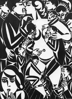Xilografía de Frans Masereel