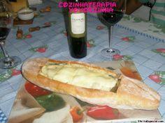 Cozinhaterapia Vovoszinha: Pão Italiano com antepasto de berinjelas