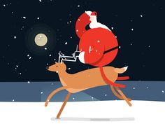 30 Imágenes Animadas de Papá Noel muy Lindas - 1000 Gifs